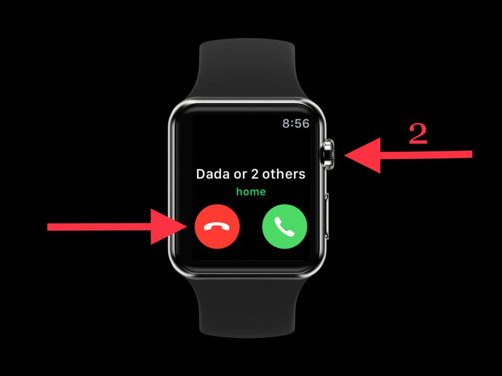 decline call in apple watch